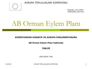 AB Orman Eylem Planı