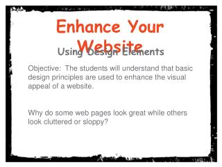 Enhance Your Website