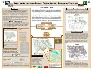 Iowa s Vertebrate Distributions: Finding Gaps in a Fragmented Landscape ________________________________________________