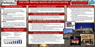 Cast a Net: Meshing Libraries with Service Learning