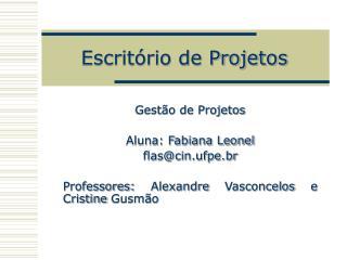 Escrit rio de Projetos