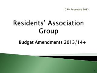 Residents' Association Group