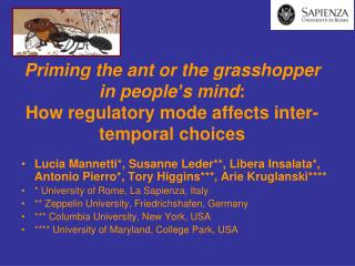 Priming the ant or the grasshopper in people's mind….