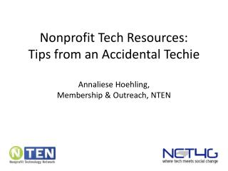 Nonprofit Tech Resources: Tips from an Accidental Techie