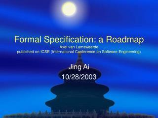 Jing Ai 10/28/2003