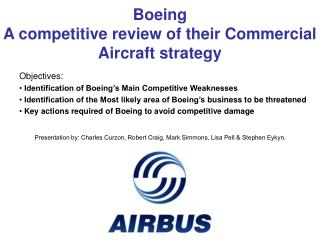 Boeing A competitive review of their Commercial Aircraft strategy