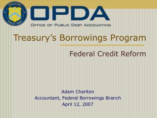 Treasury s Borrowings Program