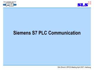 Siemens S7 PLC Communication