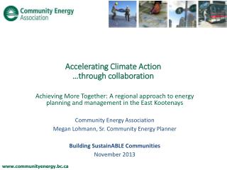 Accelerating Climate Action �through collaboration