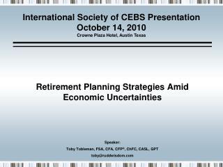 Retirement Planning Strategies Amid Economic Uncertainties