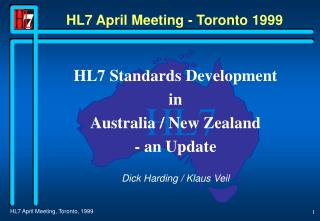 HL7 April Meeting - Toronto 1999