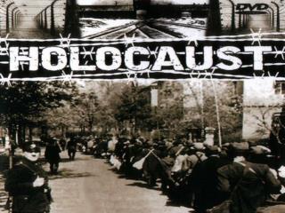 Supravieţuitori ai Holocaustului, în ziua  eliberării din lagărul Buchenwald de către