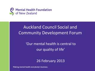 Auckland Council Social and Community Development Forum