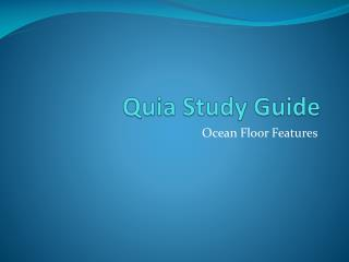 Quia Study Guide