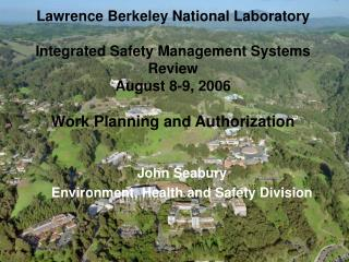John Seabury Environment, Health and Safety Division