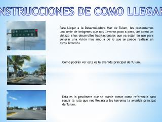 INSTRUCCIONES DE COMO LLEGAR
