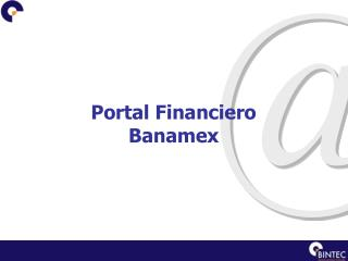 Portal Financiero Banamex
