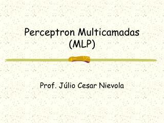 Perceptron Multicamadas (MLP)