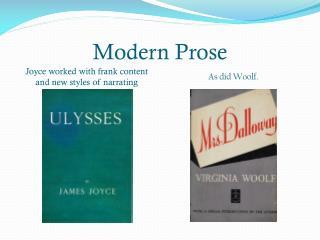 Modern Prose