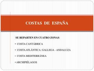 COSTAS  DE  ESPA�A