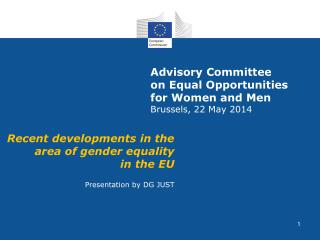 Advisory Committee  on Equal Opportunities  for Women and Men  Brussels, 22 May 2014