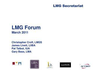 LMG Forum March 2011