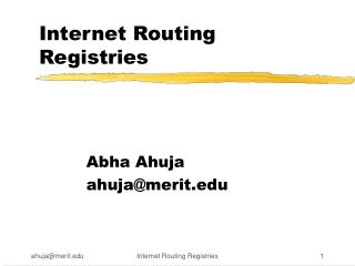 Internet Routing Registries