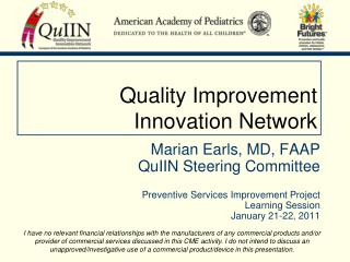 Quality Improvement Innovation Network