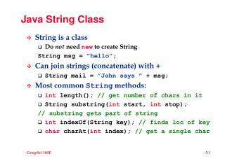 Java String Class
