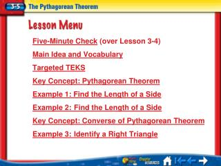 Lesson 3-5 Menu