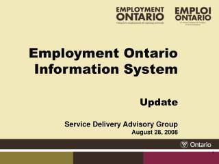 Employment Ontario Information System