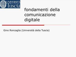 fondamenti della comunicazione digitale