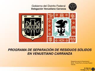 Gobierno del Distrito Federal Delegaci n Venustiano Carranza