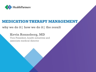 Medication Therapy Management:
