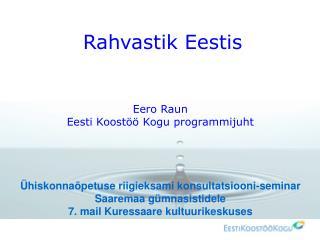 Rahvastik Eestis