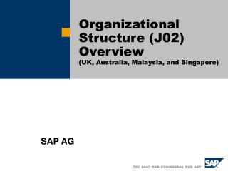 Organizational Structure J02 Overview UK, Australia, Malaysia, and Singapore