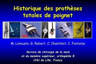 Historique des proth ses totales de poignet