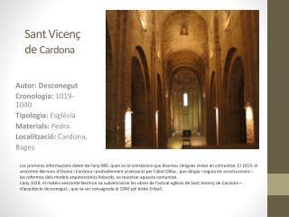 Sant Vicenç de  Cardona