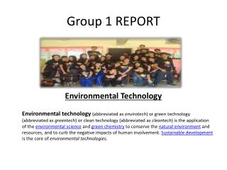 Group 1 REPORT