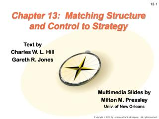 Chapter 13:  Matching Structure and Control to Strategy