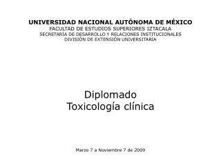 UNIVERSIDAD NACIONAL AUT NOMA DE M XICO FACULTAD DE ESTUDIOS SUPERIORES IZTACALA SECRETAR A DE DESARROLLO Y RELACIONES I