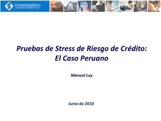 Pruebas de Stress de Riesgo de Cr dito: El Caso Peruano  Manuel Luy