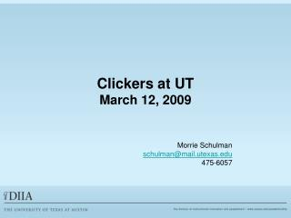 Clickers at UT