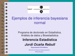 Ejemplos de inferencia bayesiana normal