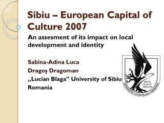 Sibiu – European Capital of Culture 2007