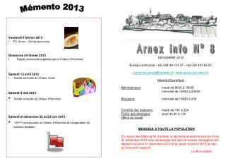 Arnex info N° 8