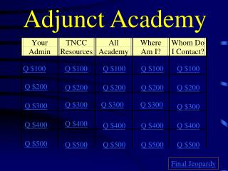 Adjunct Academy