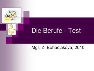 Die Berufe - Test