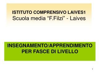 ISTITUTO COMPRENSIVO LAIVES1 Scuola media  F.Filzi  - Laives