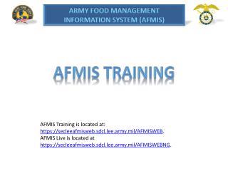 AFMIS Training